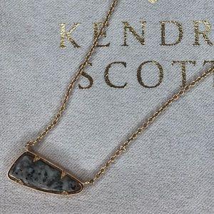 Kendra Scott Etta necklace in rose gold & granite